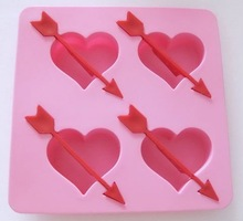 large romantic silicone ice cube tray
