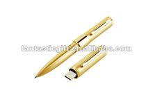 golden pen USB flash drives,metal material USB momeny sticks