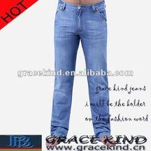 Denim Blue Straight Jeans For Men ,Cheap Wholesale Men Jeans Brand (GK313)
