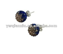Wholesale Hot Sale Glossy Beaded Shamballa Ear Stud Promotion