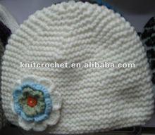 100% Hand Knit Crochet Children Hats & Caps