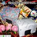 Frutas e máquina de decoração