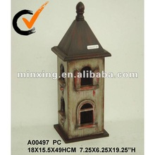 vintage decorative wooden bird house