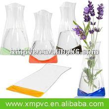 Shiny bottom vinyl gift vase for decoration XYL-V009