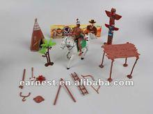 Guerreiro indiano com armas, Cavalo, Tenda