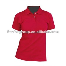2012 Summer Newest Style 100% Cotton Ladies Combed Ring Spun Premium Polo Shirts