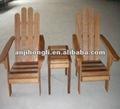 Playa silla de madera