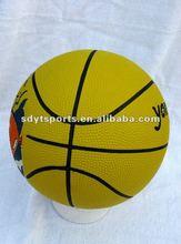 size of 3 rubber basketball,280-320g,mini basketball
