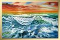 มหาสมุทรทะเลภาพวาดทะเลคลื่นน้ำมันsjc-014