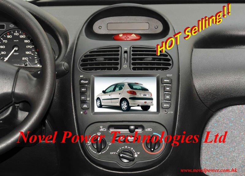 Peugeot 206 In Dashboard Av System With Gps Npt206 Peug