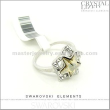 Fashion Zinc Alloy Rhinestone Ring