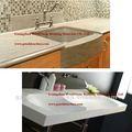 Acrílico sumidouros superfície sólida cozinha/bacia de lavagem, material de pedra artificial