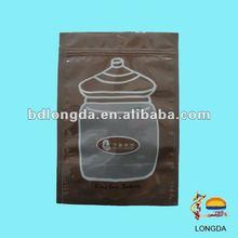Printed plastic bag press seal