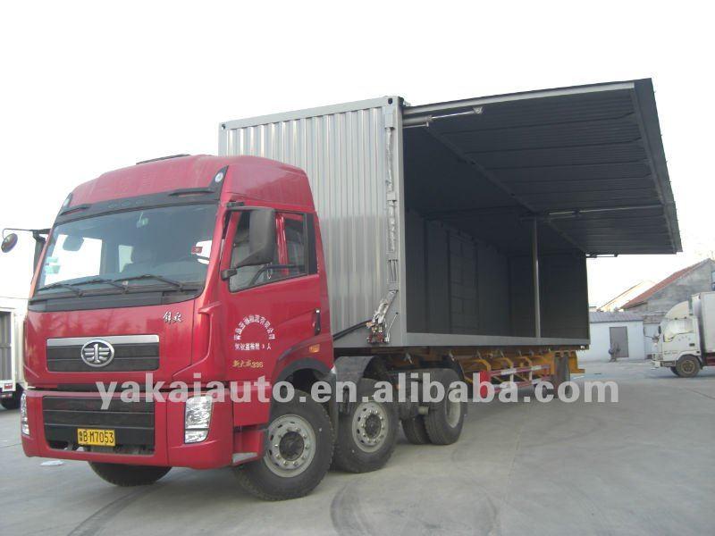 wings opening semi-trailer truck,van,side