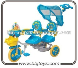 baby double trike,children tricycle two seat,double tricycles for children