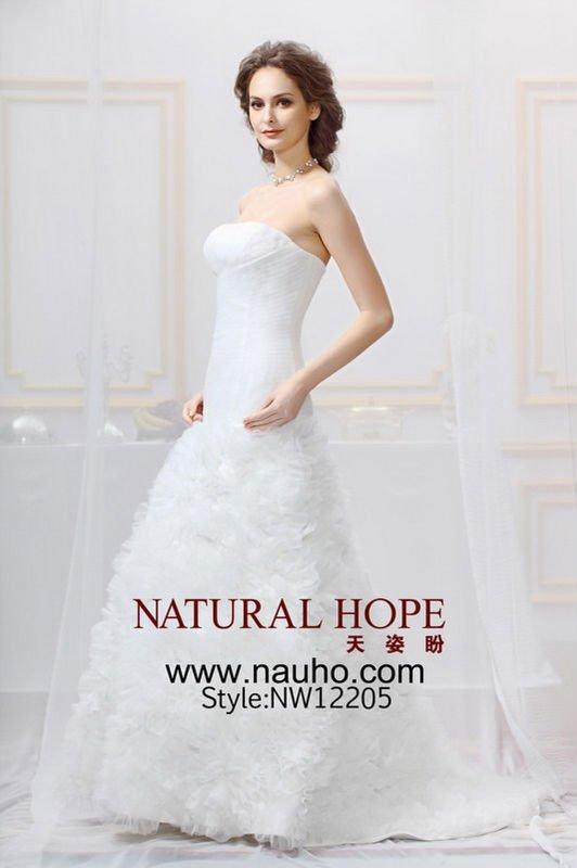 2012 designer corset top organza wedding dress NW12205