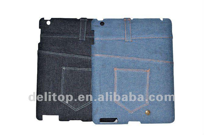 Popular Pocket Design Blue Jeans Skin Hard Case for iPad 2