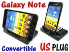 Battery + Convertible Dock Cradle USB Sync Charger for Samsung Galaxy Note N7000 i9220 i92-H5
