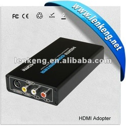 3 RCA and Svideo to hdmi converter