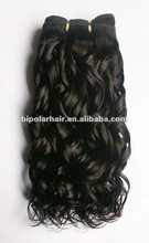 2012 hot-sale spiral curly black virgin remy machine weft human hair