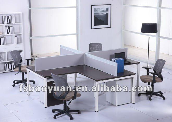 Modern Design office computer desk,View office table design,Baoyuan ...