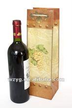 plastic PP red wine bottle bag