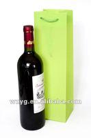 plastic PP red wine bottle carrier bag