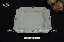 white antique porcelain plates