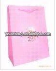 2012 pink printed shopping bag