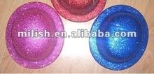 plastic hat/Glitter flashing Bowler hat MH-0566