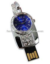 clock jewelry USB flash drives,nice diamond USB memory sticks