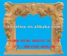 Western style fireplace mantel