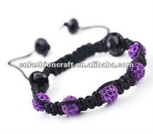 2012 New design crystal ball shamball bracelets