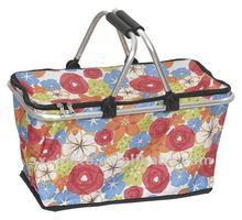 folding shopping basketMarket toteSupermarket cart bag(Eco-frienly,fashion,oxford,double hand)