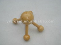small wood head massager with 4 legs