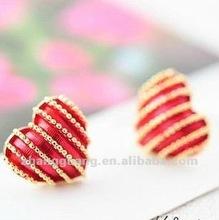 2012 latest heart earrings jewelry