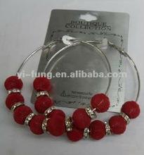 wholesale crystals bamboo earrings basketball wives earrings hoop basketball earrings