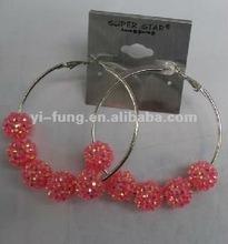 wholesale crystals bamboo earrings mesh balls for earrings beading earrings designs