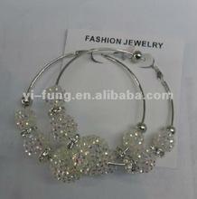 wholesale crystals bamboo earrings big ball earrings beading earrings