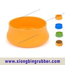 FDA standard portable foldable silicone pet bowl