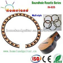 In-025 con incrustaciones de madera boca Rosette belleza acústica de la guitarra