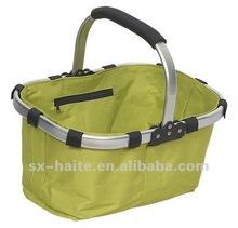 folding shopping basket for vegetable or picnicMarket toteSupermarket cart bag(fashion,Eco-friendly,safe,oxford)