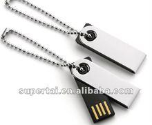High quanlity metal swivel usb pen drive 1gb 2gb 8gb 16gb custom logo optional
