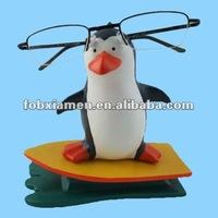 resin penguin eyeglasses stand statue