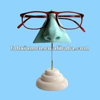 resin nose shape eyeglasses stand statue