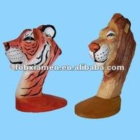 resin tiger eyeglasses stand statue