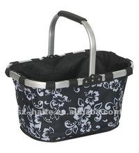 folding shopping basket for vegetable or picnicMarket toteSupermarket cart bag(fashion Eco-friendly,safe)