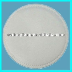 Round cosmetic cotton pads