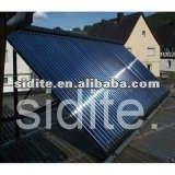 70MM copper header Flat roof bracket vacuum tube solar tubes EN12975 CE SRCC Heat Pipe Solar Collector