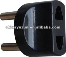 2 round pin plug adapter multiple socket